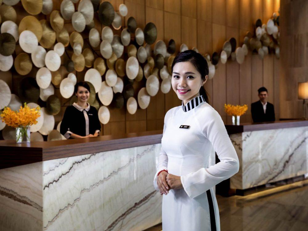 Vietnamese staff in hotel