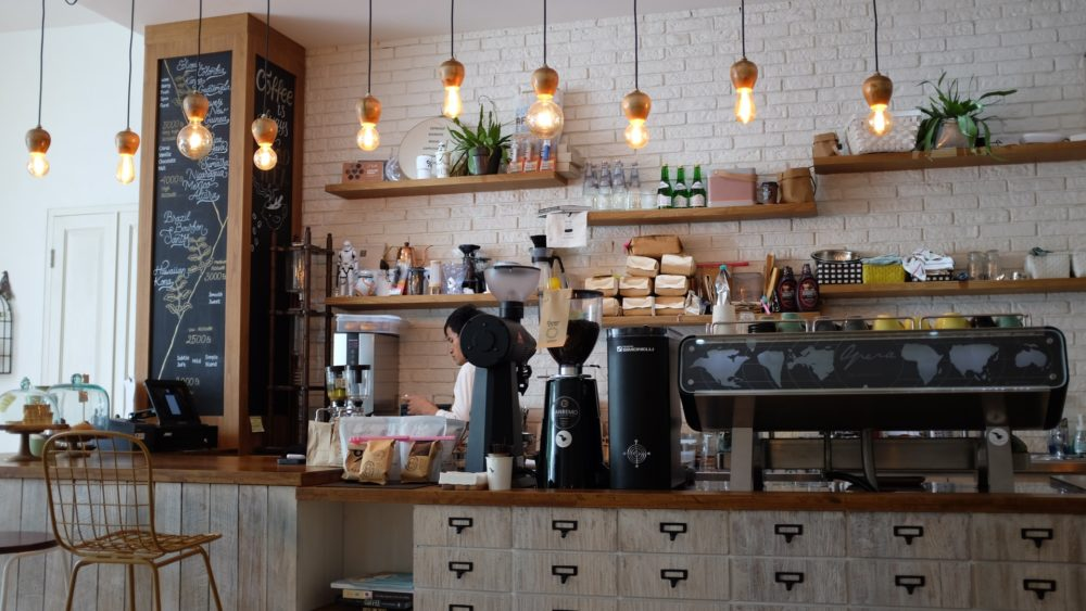One of Indonesian coffee shops