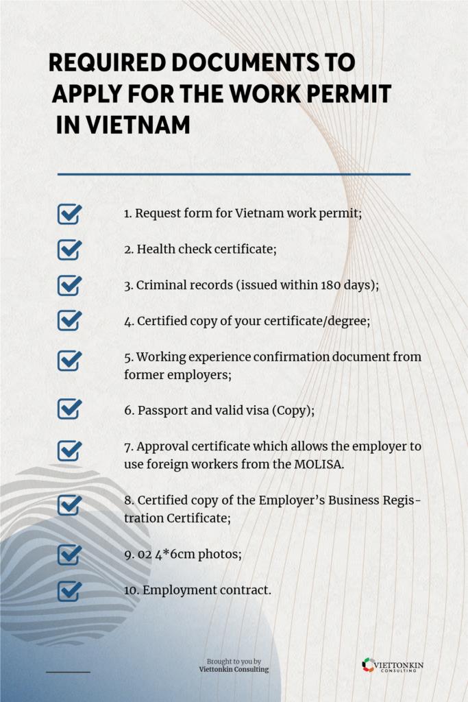 Required document to get work permit in Vietnam