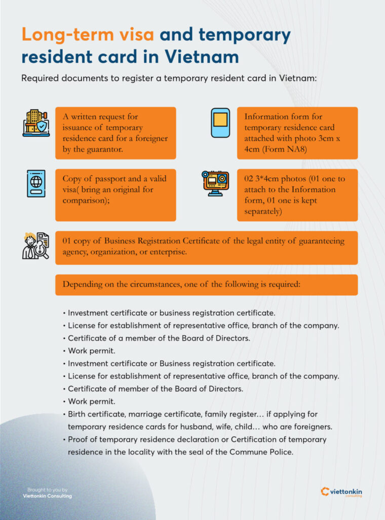 Long-term visa and temporary resident card in Vietnam