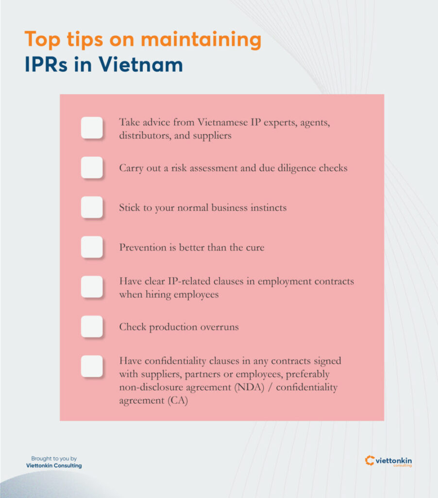 How to maintain IP rights effectively