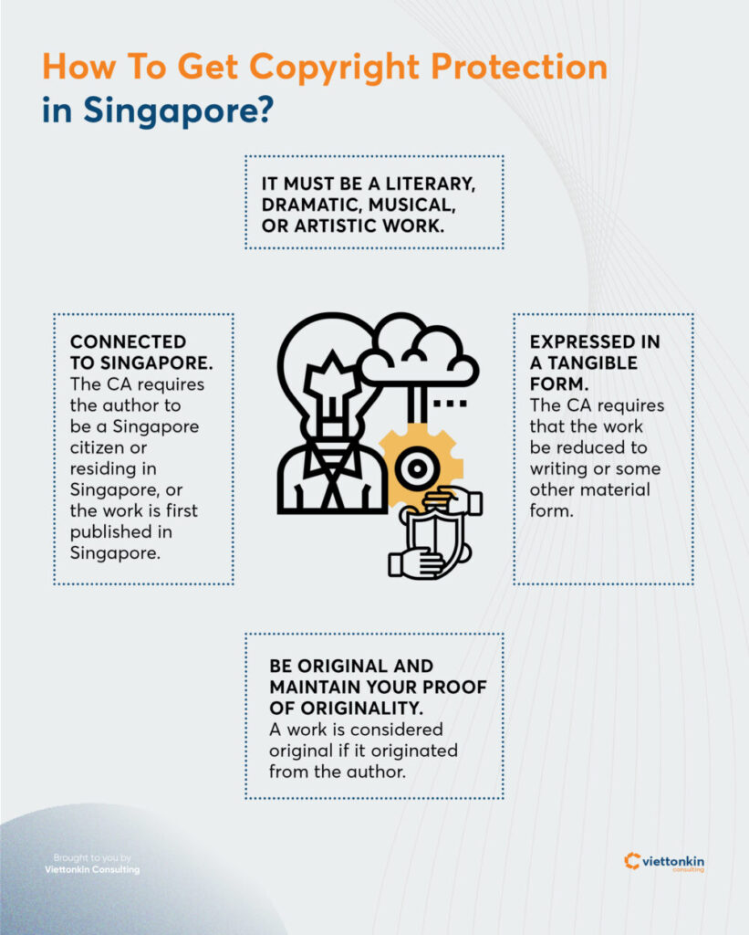 How to get copyright protection in Singapore?