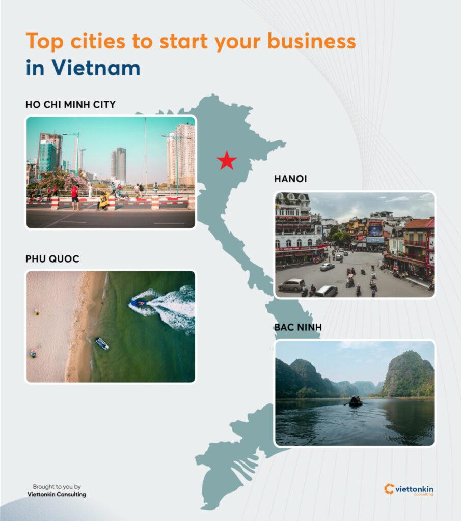 Top cities to start business in Vietnam
