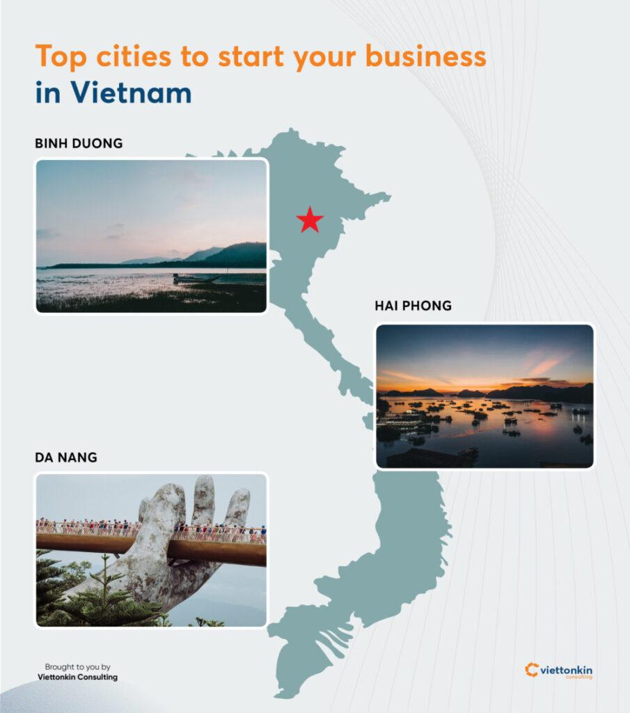 Start business in Binh Duong Da Nang Hai Phong