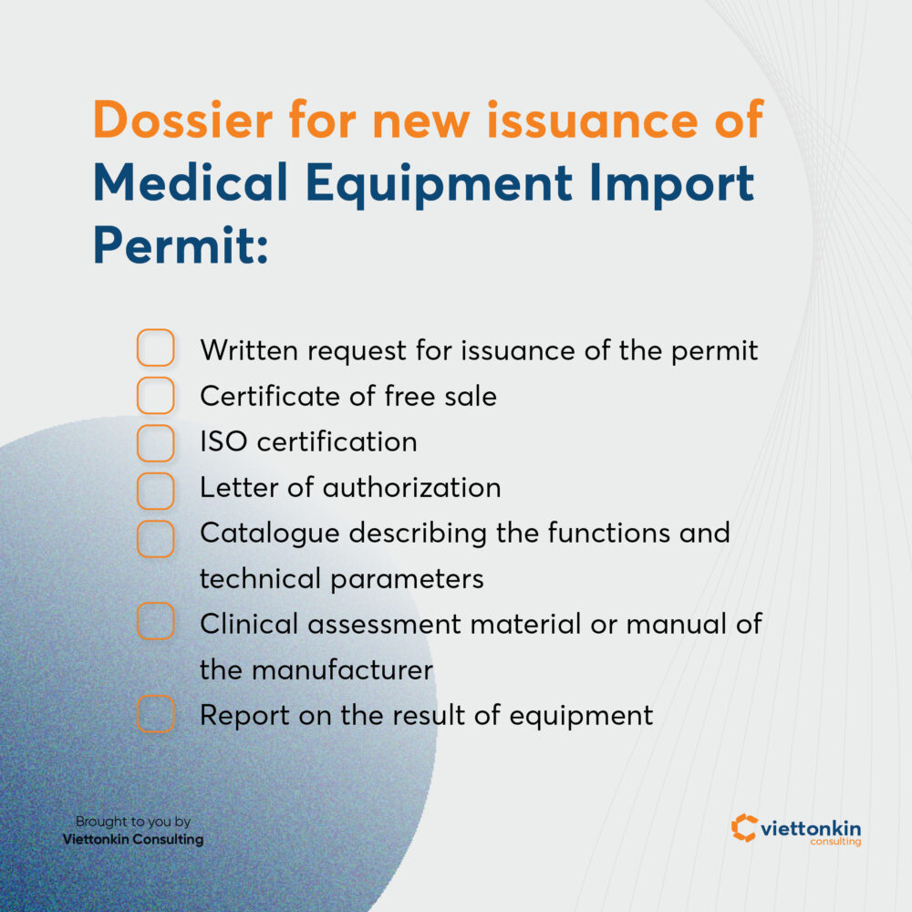 Medical Import Permit Dossier